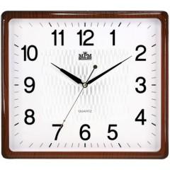 Nástenné hodiny MPM, 2929.5000.SW - hnedá/biela, 36cm