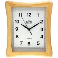 Nástenné hodiny MPM, 3051.53 - hnedá svetlá, 29cm