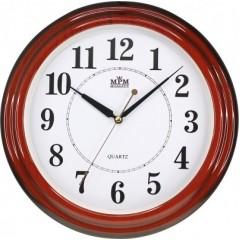 Nástenné hodiny MPM, 2926.55.SW - gaštan, 34cm