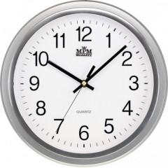 Nástenné hodiny MPM, 2927.70.SW - strieborná, 30cm