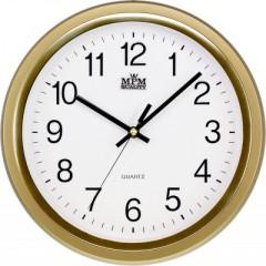 Nástenné hodiny MPM, 2927.80.SW - zlatá, 30cm