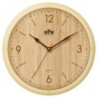 Nástenné hodiny MPM, 2973.51.YB - hnedá svetlá, 25cm
