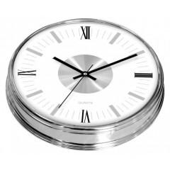 Nástenné hodiny MPM, 2974.7000 - strieborná/biela, 30cm