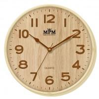 Nástenné hodiny MPM, 2976.51.AC - hnedá svetlá, 30cm