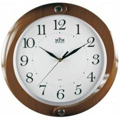 Nástenné hodiny MPM, 2441.52.SW - hnedá tmavá, 34cm