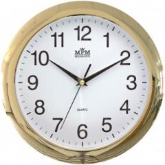 Nástenné hodiny MPM, 2452.80 zlatá,  28cm