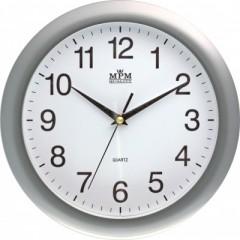 Nástenné hodiny MPM, 2452.70 strieborná,  28cm