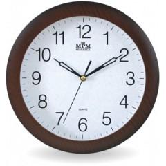Nástenné hodiny MPM, 2455.52.SW - hnedá tmavá, 28cm