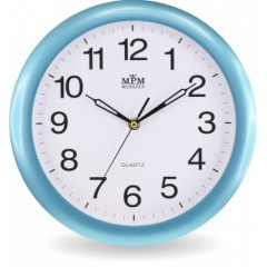 Nástenné hodiny MPM, 2455.30.SW - modrá, 28cm