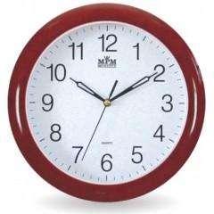 Nástenné hodiny MPM, 2455.55.SW - gaštan, 28cm