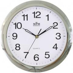 Nástenné hodiny MPM, 2455.70.SW - strieborná, 28cm