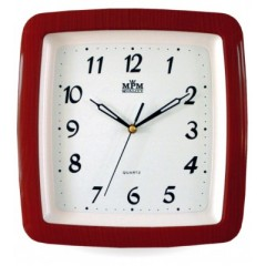 Nástenné hodiny MPM, 2459.55.SW - gaštan, 29cm