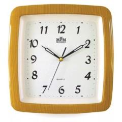 Nástenné hodiny MPM, 2459.60.SW - oranžová, 29cm