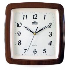 Nástenné hodiny MPM, 2459.52.SW - hnedá tmavá, 29cm
