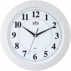 Nástenné hodiny MPM, 2460.00.SW - biela, 31cm
