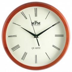 Nástenné hodiny MPM, 2471.51.W - hnedá svetlá, 27cm