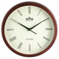 Nástenné hodiny MPM, 2471.52.W - hnedá tmavá, 27cm
