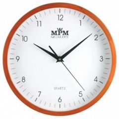 Nástenné hodiny MPM, 2472.51.W - hnedá svetlá, 25cm