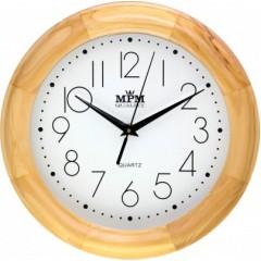 Nástenné hodiny MPM, 2473.53.W - svetlé drevo, 28cm
