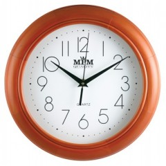 Nástenné hodiny MPM, 2474.51.W - hnedá svetlá, 28cm