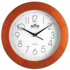 Nástenné hodiny MPM, 2475.51.W - hnedá svetlá, 28cm