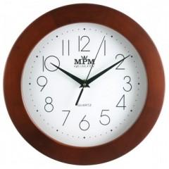 Nástenné hodiny MPM, 2475.52.W - hnedá tmavá, 28cm