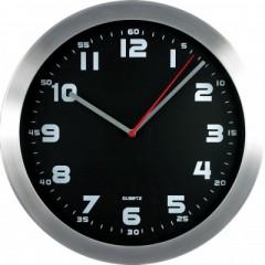 Nástenné hodiny MPM, 2482.7090 - strieborná/čierna, 30cm