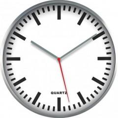 Nástenné hodiny MPM, 2483.7000 - strieborná/biela, 30cm