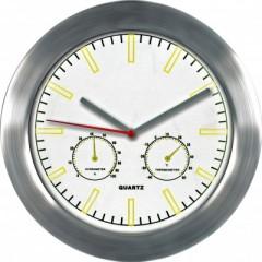 Nástenné hodiny MPM, 2485.7000 - strieborná/biela, 28cm