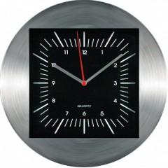 Nástenné hodiny MPM, 2486.7090 - strieborná/čierna, 30cm