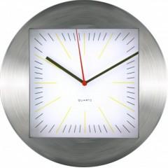 Nástenné hodiny MPM, 2486.7000 - strieborná/biela, 30cm