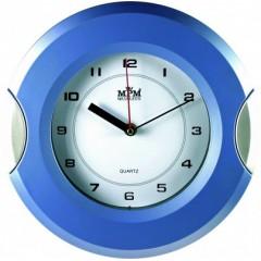 Nástenné hodiny MPM, 2506.3170 - modrá svetlá/strieborná, 27cm