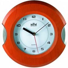 Nástenné hodiny MPM, 2506.5070 - hnedá/strieborná, 27cm