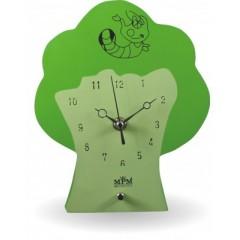 Nástenné hodiny MPM, 2507.41 - zelená svetlá, 21cm