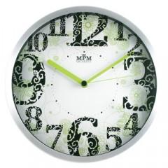 Nástenné hodiny MPM, 2524.7000 - strieborná/biela, 30cm