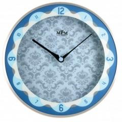Nástenné hodiny MPM, 2525.7030 - strieborná/modrá, 30cm