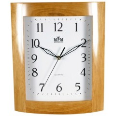 Nástenné hodiny MPM, 2531.51 - hnedá svetlá, 30cm