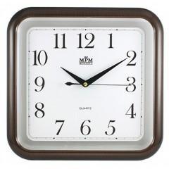 Nástenné hodiny MPM, 2440.52.SW - hnedá tmavá, 30cm