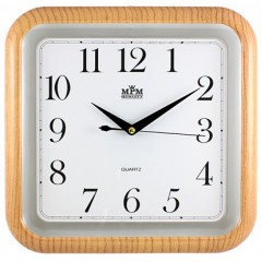 Nástenné hodiny MPM, 2440.60.SW - oranžová, 30cm