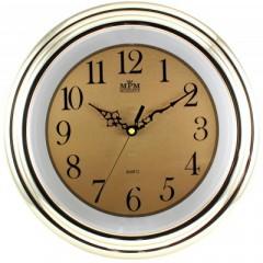 Nástenné hodiny MPM, 2443.80.SW - zlatá, 34cm