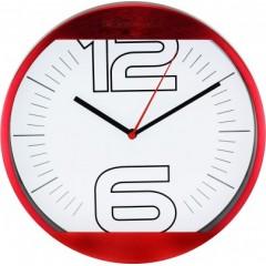Nástenné hodiny MPM, 2487.20 - červená, 25cm