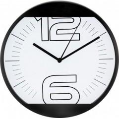 Nástenné hodiny MPM, 2487.90 - čierna, 25cm