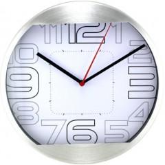 Nástenné hodiny MPM, 2487.70 - strieborná, 25cm