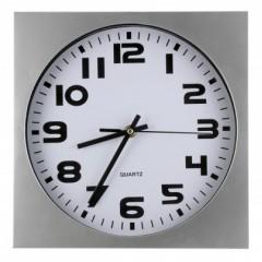 Nástenné hodiny MPM, 2500.7000 - strieborná/biela, 26cm