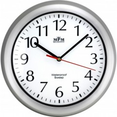 Nástenné hodiny MPM, 2535.70 - strieborná, 30cm