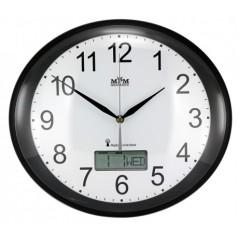 Nástenné hodiny MPM, 2536.90 - čierna, 30cm