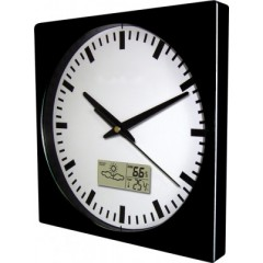 Nástenné hodiny MPM, 2633.90 - čierna, 26cm