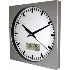 Nástenné hodiny MPM, 2633.70 - strieborná, 26cm