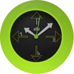 Nástenné hodiny MPM, 2690.40 - zelená, 25cm