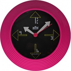 Nástenné hodiny MPM, 2690.23 - ružová, 25cm